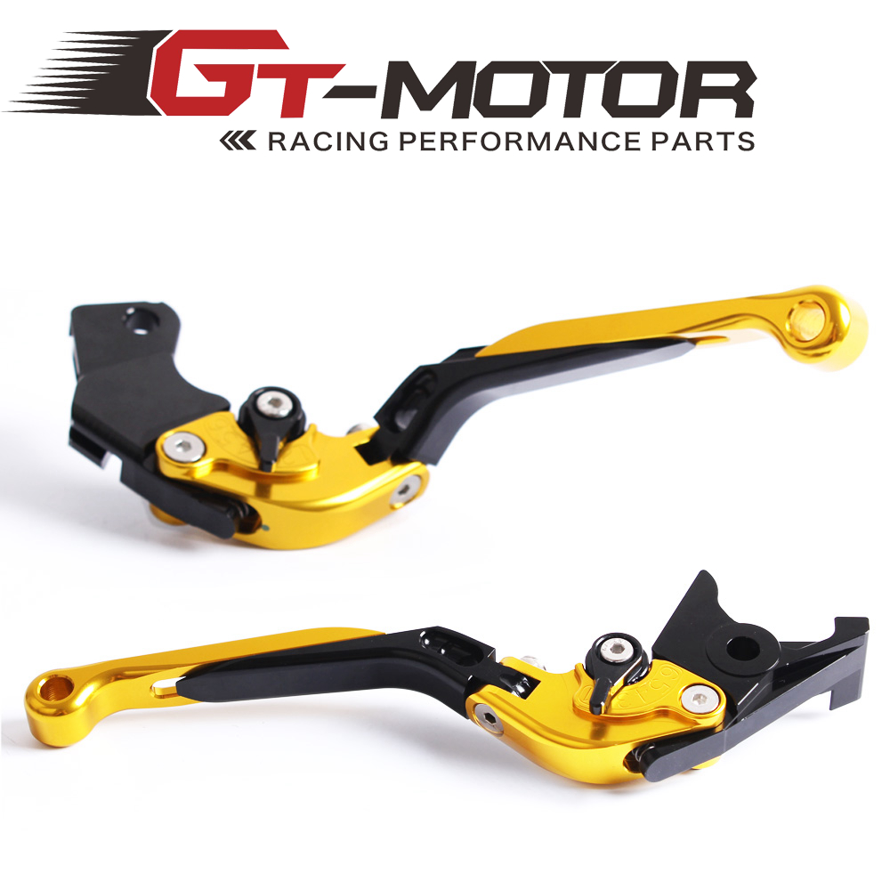 GT Motor F-14 C-777 Adjustable CNC 3D Extendable Folding Brake Clutch Levers For YAMAHA FJR 1300 V-Max XJR1200 XJR1300 bj ls 001 f14 c777 bl motorcycle cnc adjustable folding extendable brake clutch levers set for yamaha fjr 1300