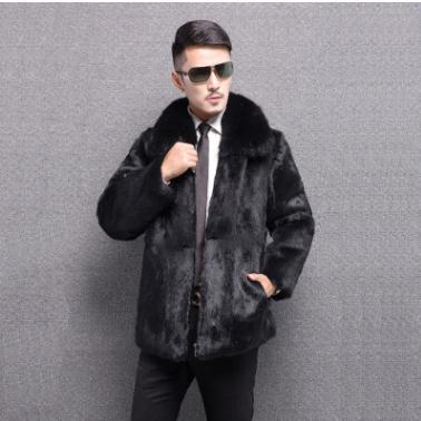Grande Vêtements Fur Collar Capot Mâle Noir square S Outwears Iutwears big Hommes Jacketslarge Faux D'hiver Hooded Collar Fourrure J2387 D'esprit 6xl Casual Taille QoWeBrdCx