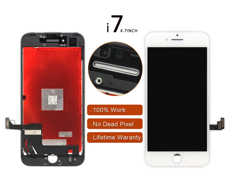 DHL 100% tested For iPhone 7 LCD Display Screen Digitizer Assembly - White/Black
