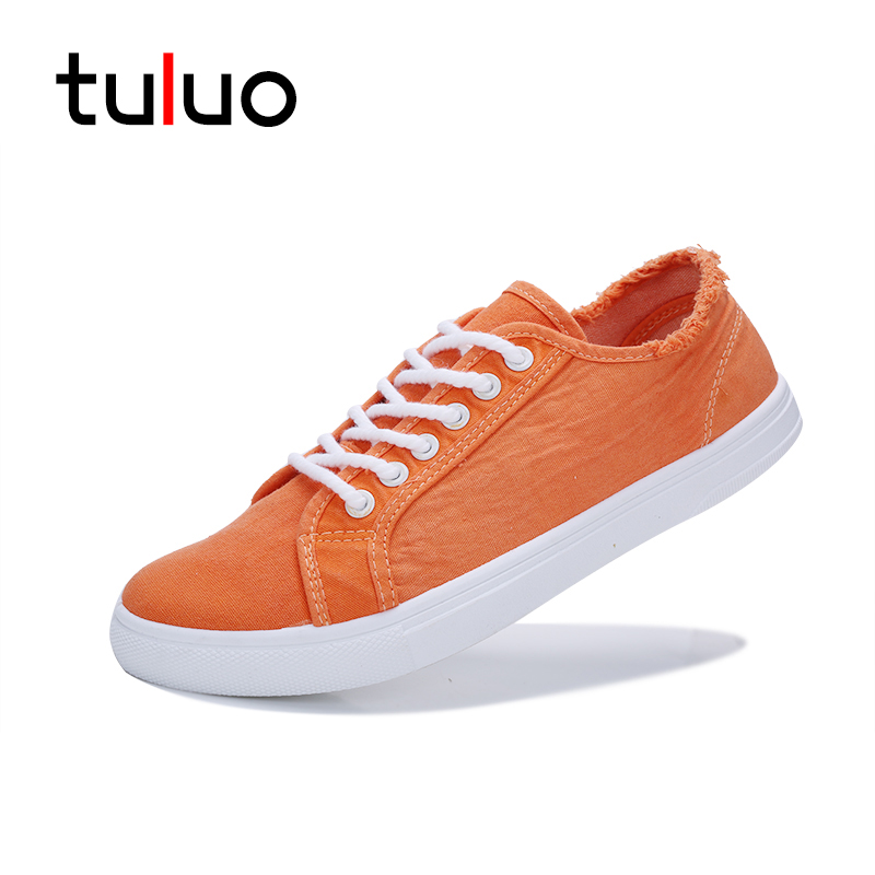 TULUO 2018 Canvas Shoes for Men New Arrival Solid Color Casual Shoes Mens Breathable Outdoor Walking Low Top Men's Flat Sneakers e lov women casual walking shoes graffiti aries horoscope canvas shoe low top flat oxford shoes for couples lovers