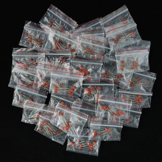 300 قطعة/الوحدة السيراميك مكثف مجموعة حزمة 2PF-0.1UF 30 القيم * 10 قطعة مكونات إلكترونية حزمة مكثف حلو كيت عينات Diy