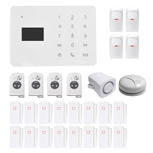 GSM PSTN Sim Call LCD Display Smart Touch Keypad Home Security Voice Burglar Alarm