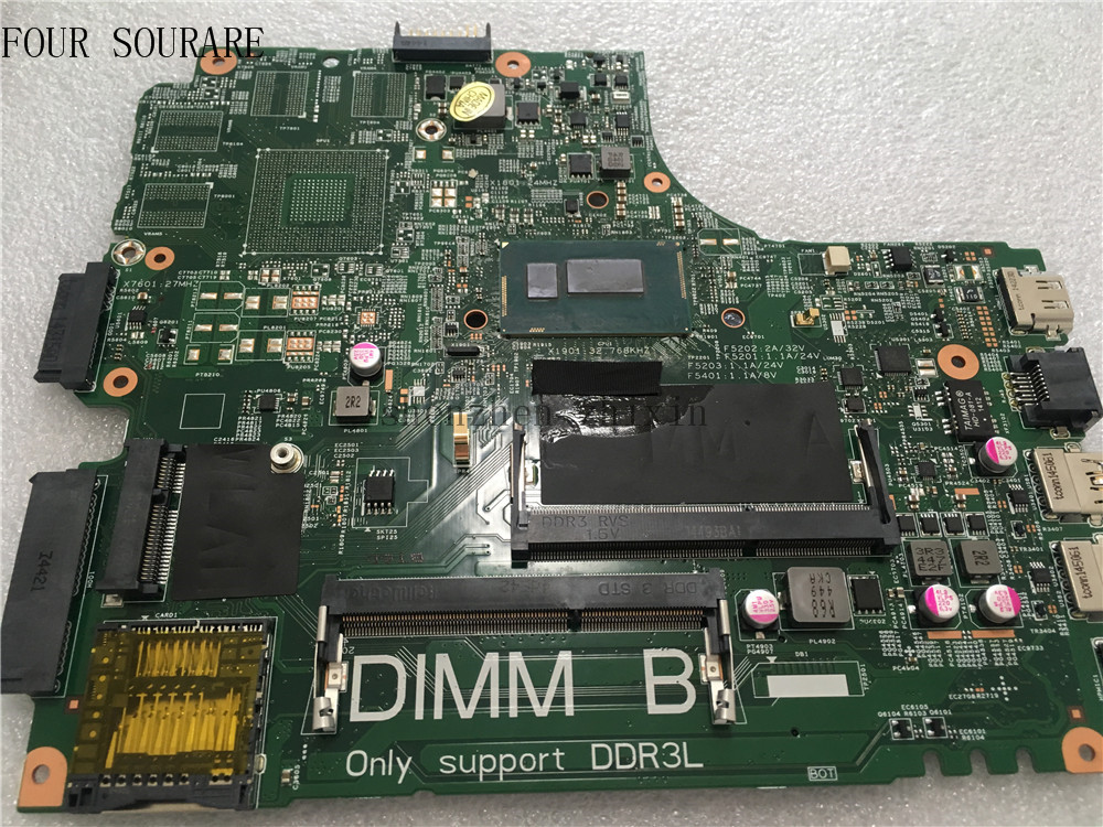 Four sourare For DELL 14R 5437 3437 Laptop motherboard 2955U CPU CN-09DJXD 09DJXD 9DJXD Mainboard test good