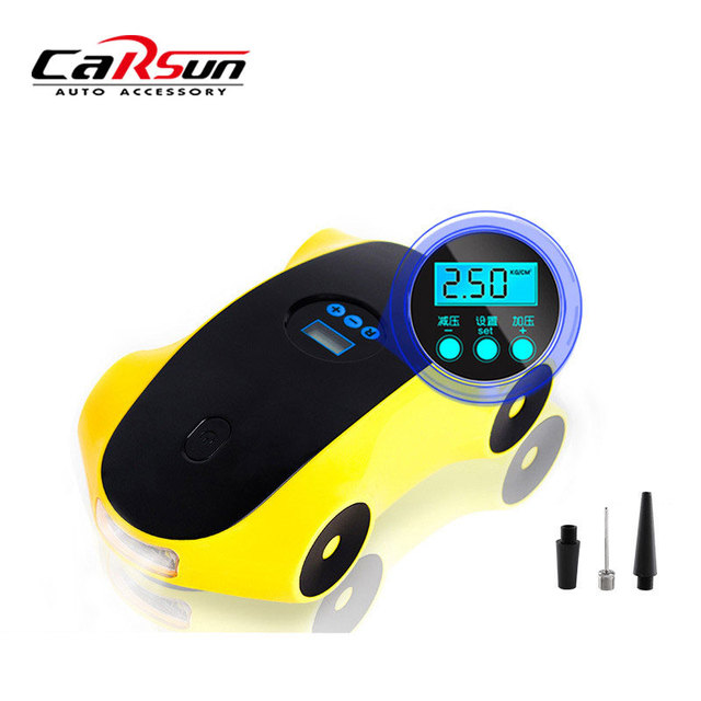 CARSUN Inflatable Pump Car Tyre Inflator With Light 12V Air Compressor Car Tyre Inflator 120W Portable Digital Tire Pressure