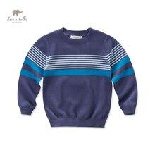 DK0500 дэйв белла осень мальчиков синий полосатый свитер мальчики случайных свитер