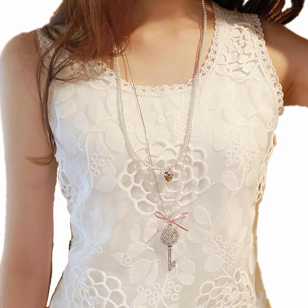 Femininas Plus Size Lace Chiffon Blouses Shirts Summer Women Tops Casual Blusa White Cotton Elegant Sexy Shirts Female Clothing