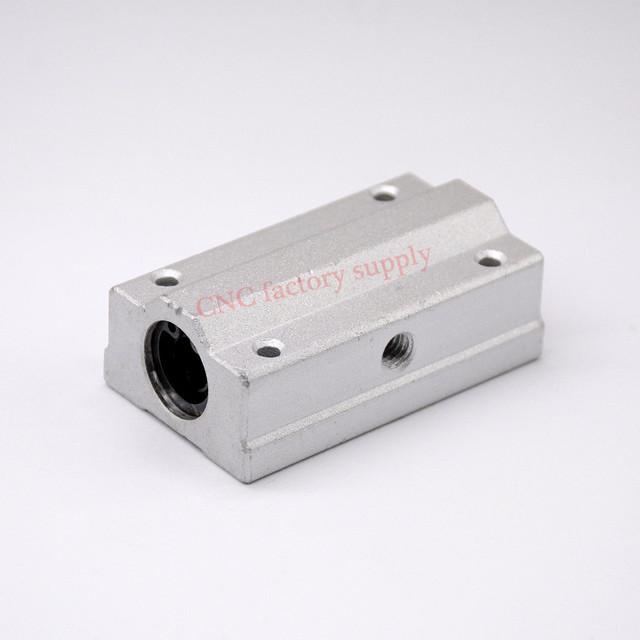 4pcs/lot Free shipping SC8LUU SCS8LUU 8mm long type Linear Ball Bearing Block CNC Router