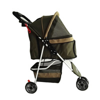 High Quality Pet Supplies Pet Strollers Waterproof Three Wheeled Dog Carts Quick Installation Fold Space Large