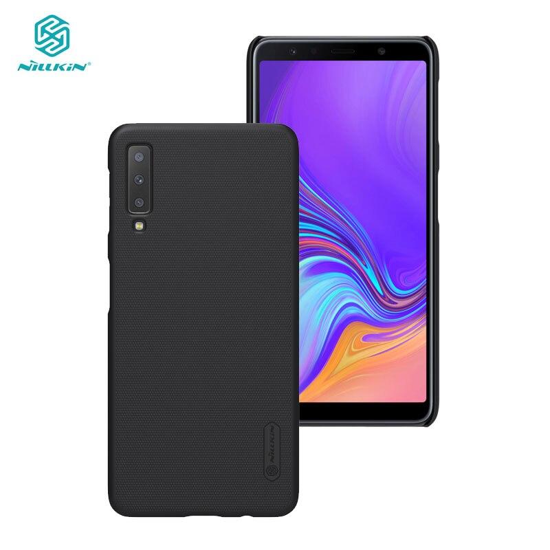 La sFor Samsung A7 2018 A750F-DS carcasa Nillkin protector de PC esmerilado funda carcasa trasera dura para el modelo Samsung galaxy A7 2018 A750F