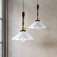 Estilo American Loft Luzes Pendentes Luminária Em Casa Flor Forma Lâmpada LED Lâmpadas Penduradas Para O Quarto de Madeira Retro Do Vintage|Luzes de pendentes| |  -