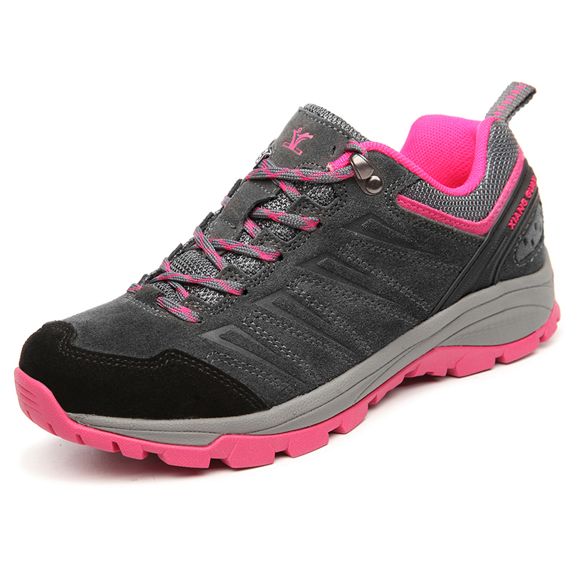High Quality Low-top Leisure Sports Outdoor Hiking Trekking Shoes Women Breathable Waterproof Camping Climbing Suede Sneakers new womens high top lace up outdoor suede trekking bootss waterproof breathable camping hiking shoes women climbing sneakers