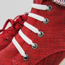12 pcs/lot Latest Packaging Colorful Athletic  Running No Tie Shoelaces Elastic Silicone Shoe Lace String Laces Style K051