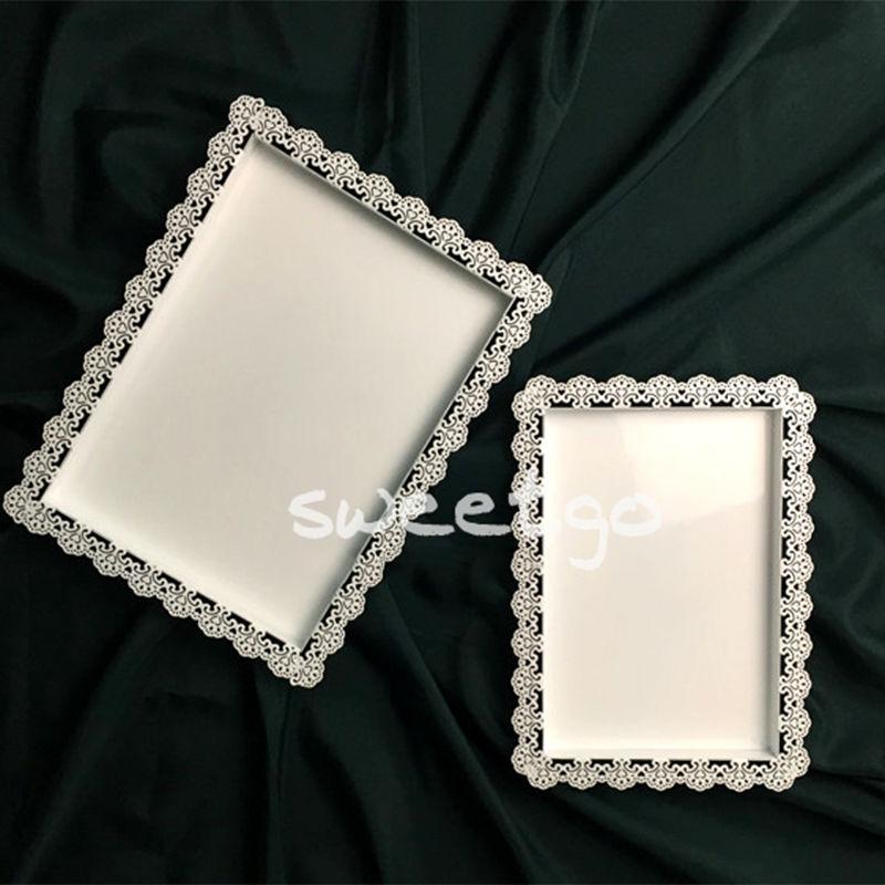 SWEETGO tabaka e dekorimit të dasmave pjatë e bardhë e - Kuzhinë, ngrënie dhe bar - Foto 6