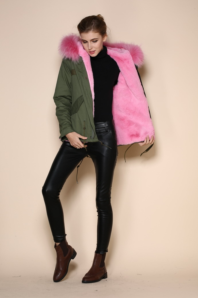 Mrs or Ms furs unisex army green coat new arrival latest design ...