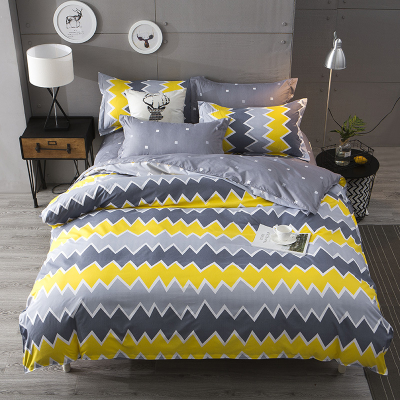 People Searched Also Bought City Plaid 4pcs Bedding Sets Duvet Cover Queen Size Bedspread 1 Quilt Cover 1 Bedsheet 2 Pillowcase