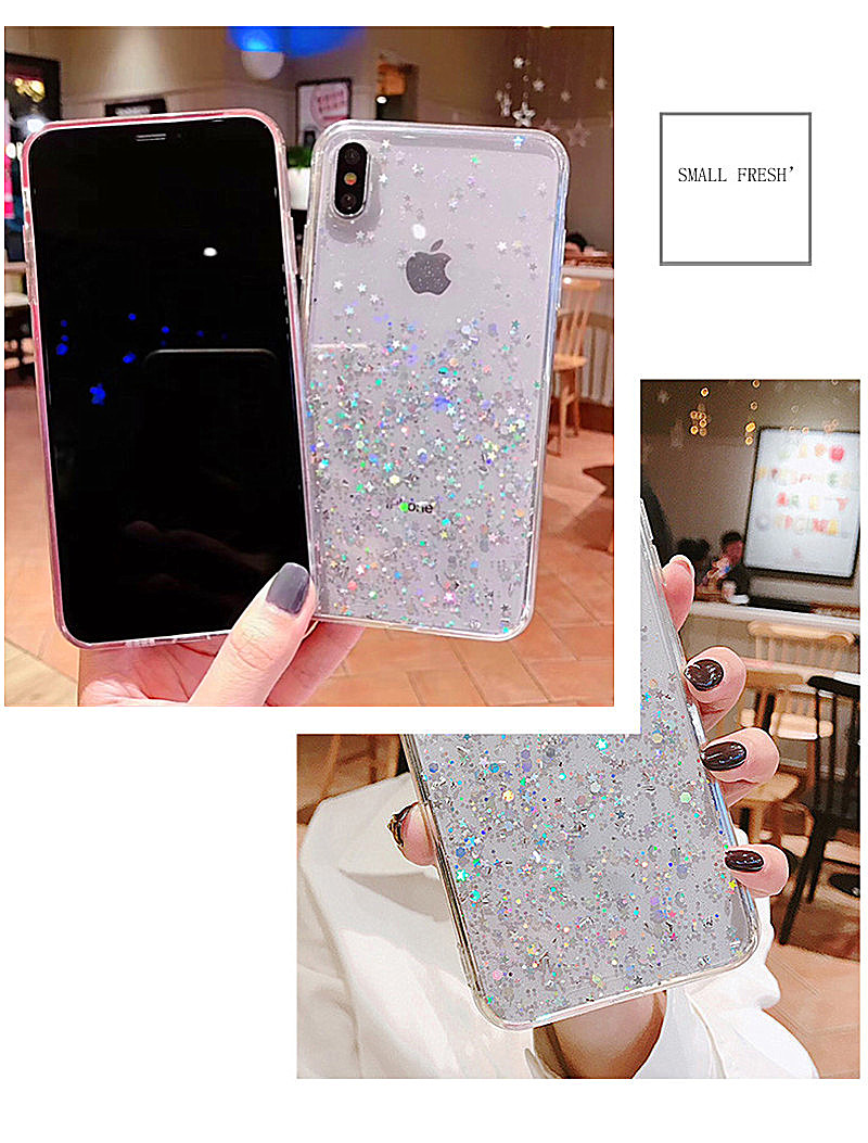 HTB14pcAav5G3KVjSZPxq6zI3XXai - Luxury Bling Glitter Stars Sequins Case For iPhone 11 Pro XS MAX XR X Transparent Silicone Case For iphone 8 7 6 6S Plus Cover