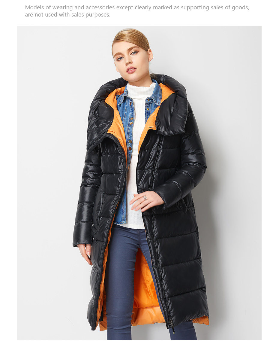 Fashionable Coat Jacket Women's Hooded Warm Parkas Bio Fluff Parka Coat High Quality Female New Winter Collection 8