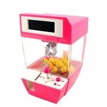 Монетный захват для конфет, кукла, машина для ловли конфет+ сигнализация, Плата часов, игра, вечерние игрушки для детей, рождественский подарок