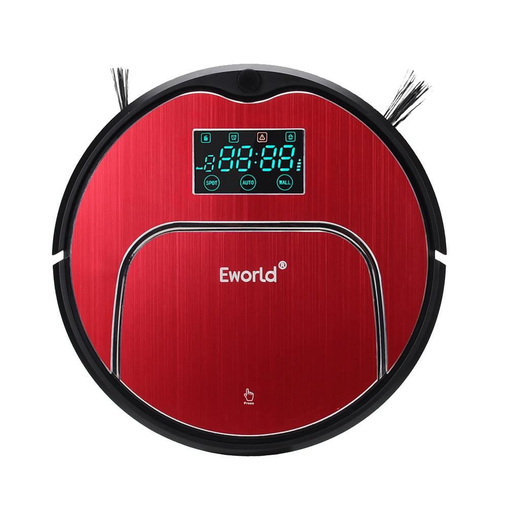Eworld M883 Aspirador Inteligente Arrebatadora Robô Aspirador de pó Automático com Controle remoto Recarregável Casa Poeira Cleaner