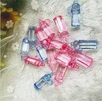 30pcs Roze Blauw Mini Plastic zuigfles Baby Shower Gunst Filler Nursery Doop Party Favor Decor Cake Decoraties 1