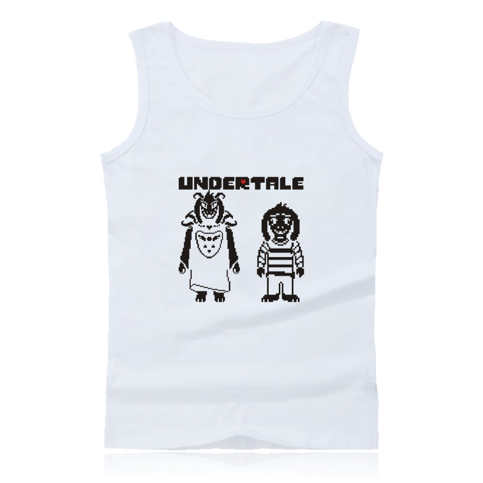 Skull Brother Undertale Muscle Tank Tops for Men Sleeveless Shirts and Undertale Sans Pl ...
