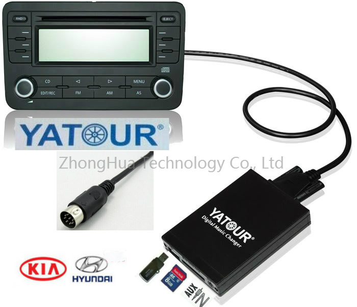 Yatour Digital Music Car Audio USB interface adapter changer Bluetoot kit for Hyundai Kia 8-pin CD connection Mp3 Player apps2car usb sd aux car mp3 music adapter car stereo radio digital music changer for volvo c70 1995 2005 [fits select oem radio]