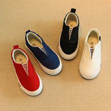 2016 nouveau printemps et d'été blanc enfants toile shoes pour les filles enfants une pédale ensembles pied garçons mocassins marée Coréenne enfants shoes