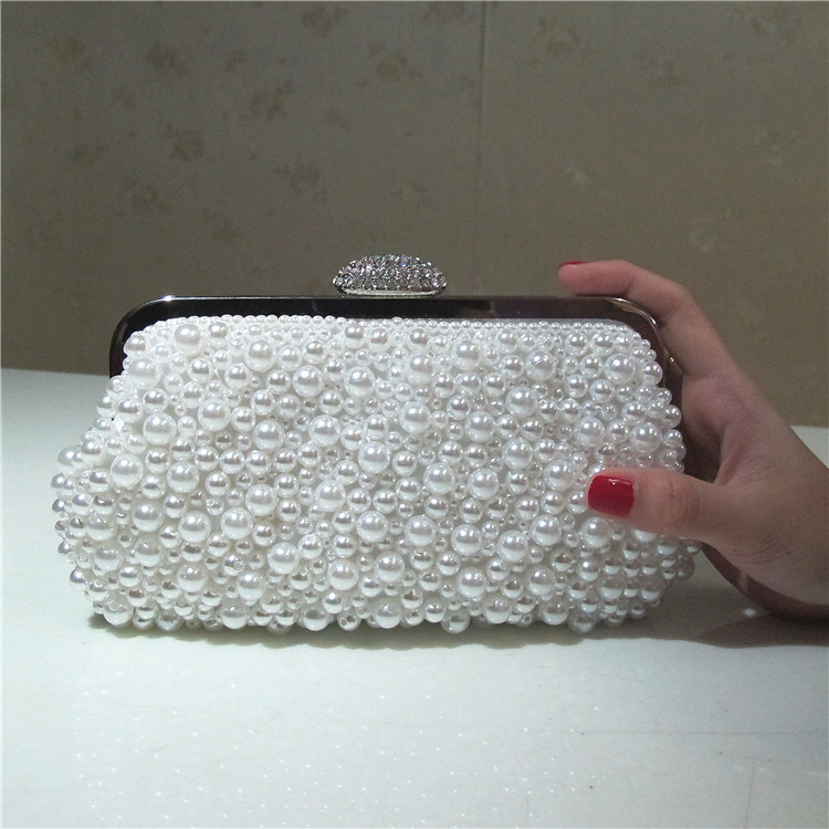 2017 New Luxury Women Handbags Beaded Rhinestones Purse Evening Bags Messenger L