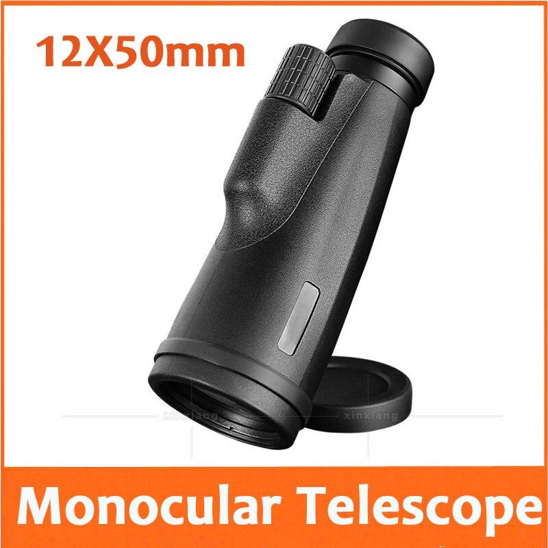 12X50mm lentille Focus réglable en plein air voyage télescope poche Educatioanl enfants étudiant monoculaire télescope