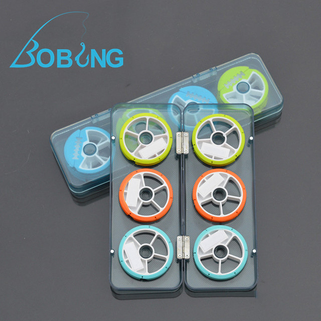 Bobing 1Box 7CM 6 Axes 8 Axes Portable Plastic Fishing Line Wire ...