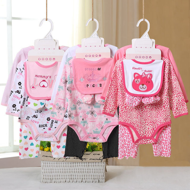 Baby Winter Newborn Rompers 2016 Cute Cartoon baby clothing set baby girl Jumpers 0-12M baby boy Outfits Clothes
