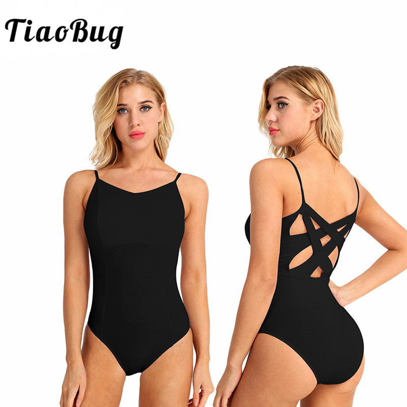 TiaoBug Women Professional Ballet Tutu Leotard Adult Cutout Back Ballet Leotards For Women Gymnastics Leotard Ballerina Bodysuit