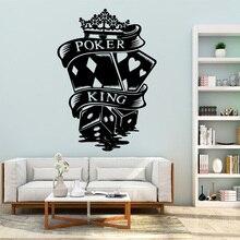 3f6f412e26d0e Modern Zar Poker Vinil Kendinden Yapışkanlı Duvar Kağıdı Pvc Duvar  Çıkartmaları Vinil Sanat Çıkartması wallstickers(