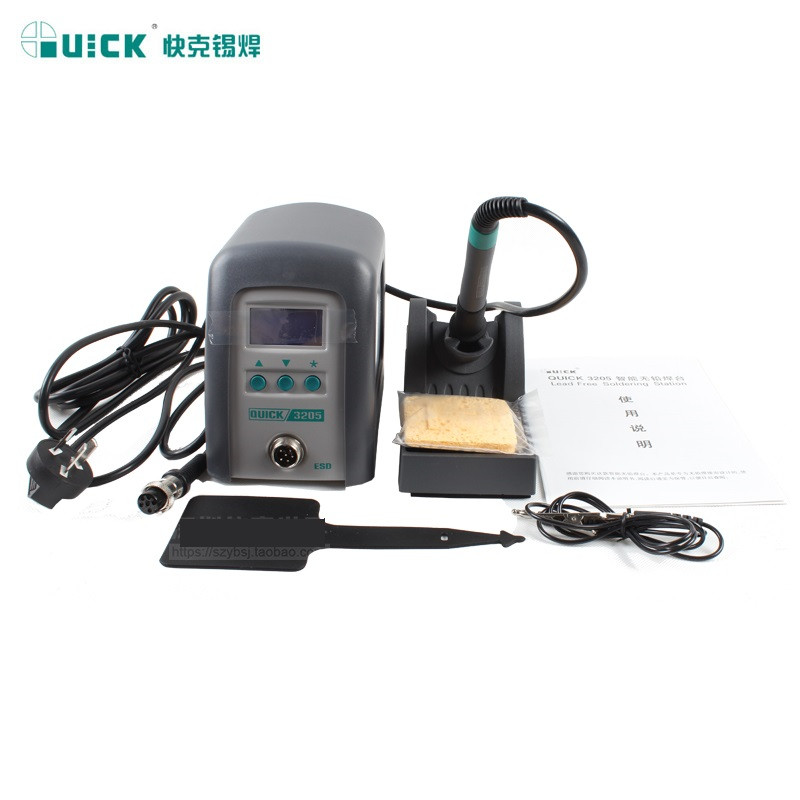 150W High Frequency Soldering Station Digital Soldering Station Lead-free Iron QUICK3205ESD ноутбук hp 15 ay095ur core i3 5005u 4gb 500gb intel hd graphics 5500 15 6 hd 1366x768 windows 10 64 black wifi bt cam 2850mah