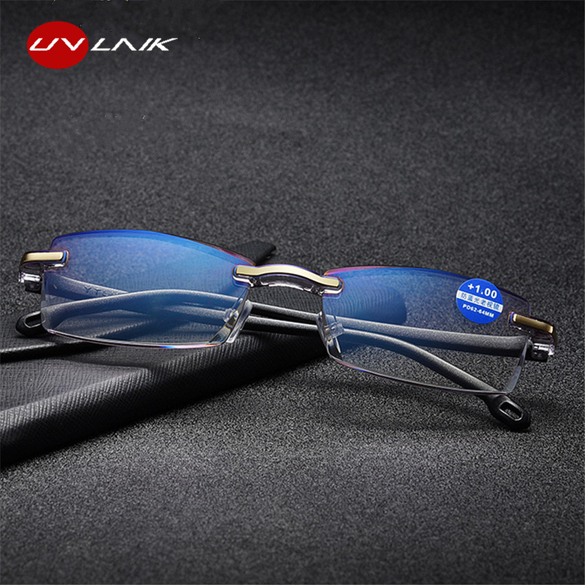 UVLAIK Ultralight Rimless Reading Glasses Women Men Clear Lens Anti Blu Ray Computer Glasses Presbyopia Reader Glasses-in Women's Reading Glasses from Apparel Accessories on Aliexpress.com | Alibaba Group