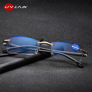 8ff9b50b69e UVLAIK Rimless Reading Glasses Women Men Presbyopia