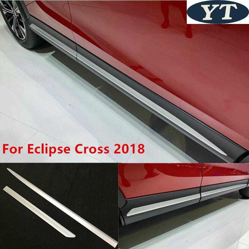 ABS chrome auto porte latérale moulure Pour Eclipse Croix 2018