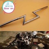 Moto Off Road Chrome 7 8 22mm Trascinare Style Bar Manubrio Cruiser Cafe Racer Bobber Old