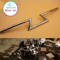 Moto Off Road Chrome 7 8 22mm Trascinare Style Bar Manubrio Cruiser Cafe Racer Bobber Old