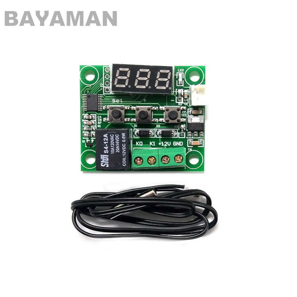 1pc XH-W1209 Digital LED Display Thermostat Temperature Controller Switch Module Micro Board for Multicopter Drones 220v w3001 digital led temperature controller 10a thermostat control switch probe xh w3001