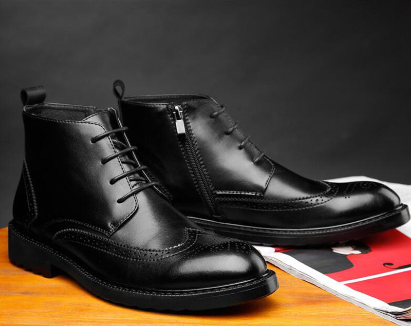 YIGER Genuine Leather Boots for Men 23