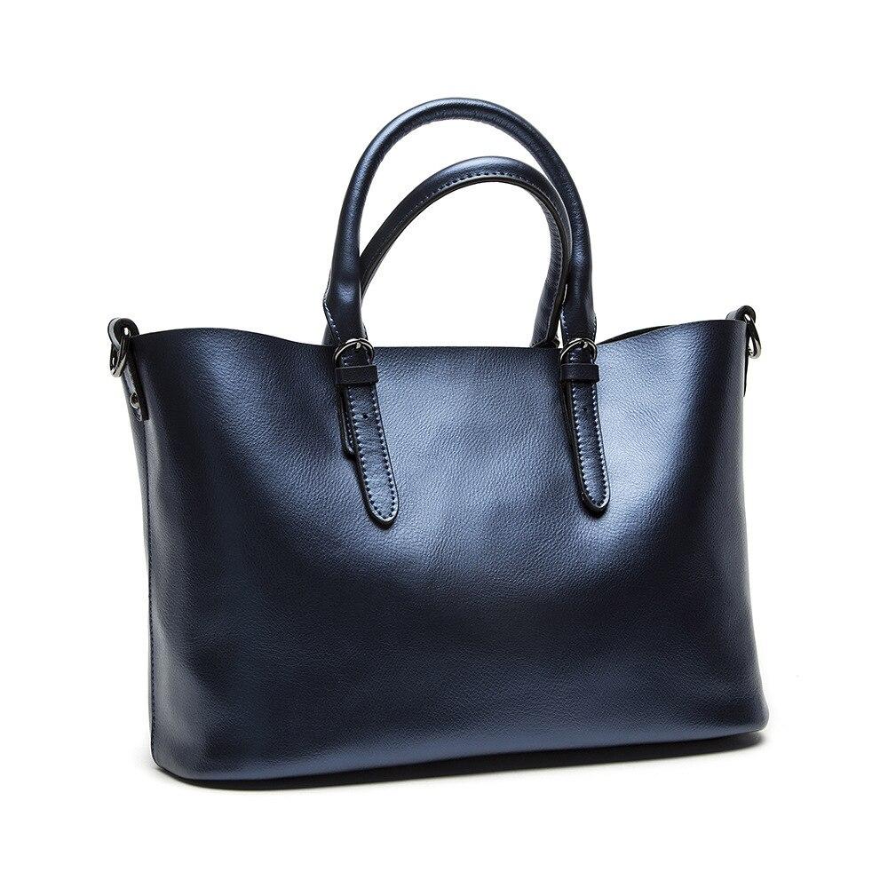 Fashion Women Split Leather Handbags Ladies Pearl Cowhide Brief All-match Tote Shoulder Crossbody Bags Female Bolsas QZ4604