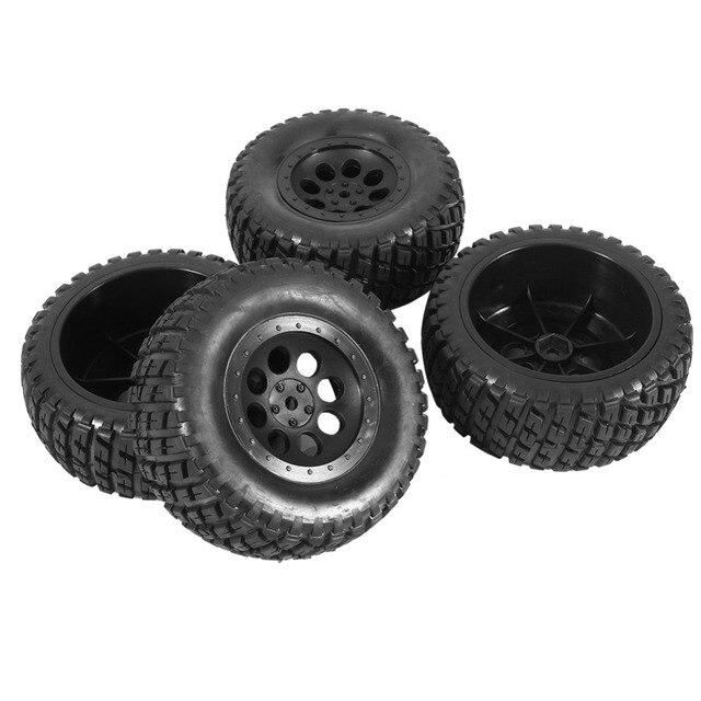 4 stks Rubber Banden & Velgen Voor HPI 1:10 Korte Baan Auto Zwarte Hoge Kwaliteit RC deel Rubber Banden & Nylon Velg