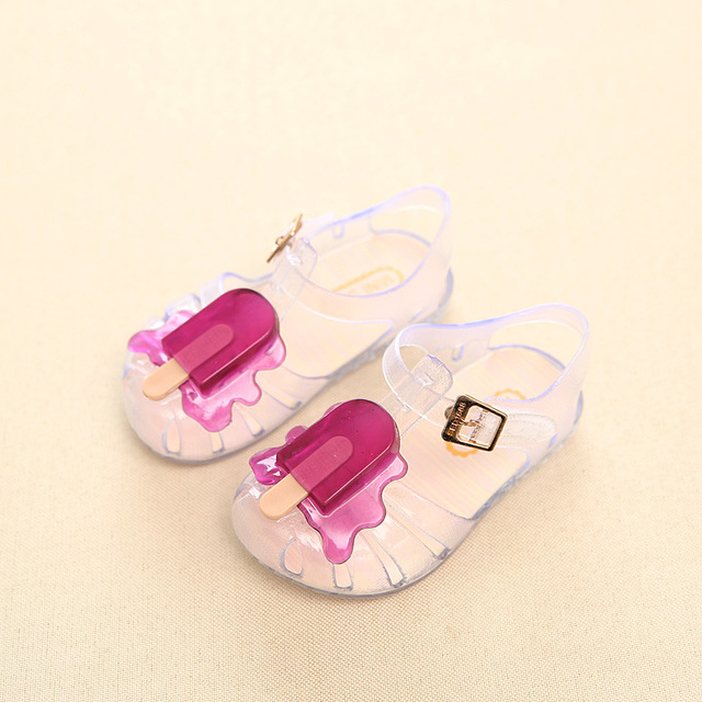 f5cac88a4 11.8-19.8cm 2017 Mini sed ice cream popsicles fruit baby girls sandals  shoes summer jelly shoes for toddlers