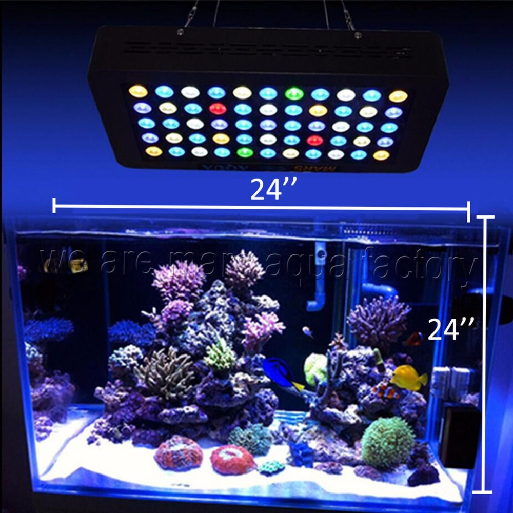 165w led aquarium light dimmable reef coral grow tank lamp. Black Bedroom Furniture Sets. Home Design Ideas