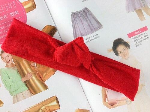 Милый Летний стиль, повязка на голову с бантом для маленьких девочек, детские однотонные повязки с узлом повязка для волос, Детские аксессуары для волос, 12 шт./партия
