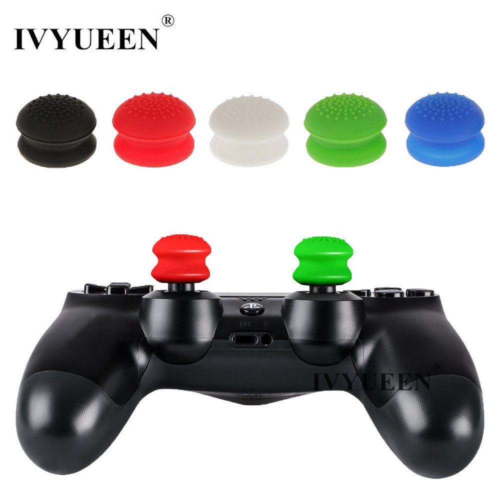 IVYUEEN 4 pcs Silicone Analog Thumb Sticks Extender Grips For Dualshock 4 PS4 Pro Slim Controller for PS3 for XBox 360 GamepadIVYUEEN 4 pcs Silicone Analog Thumb Sticks Extender Grips For Dualshock 4 PS4 Pro Slim Controller for PS3 for XBox 360 Gamepad