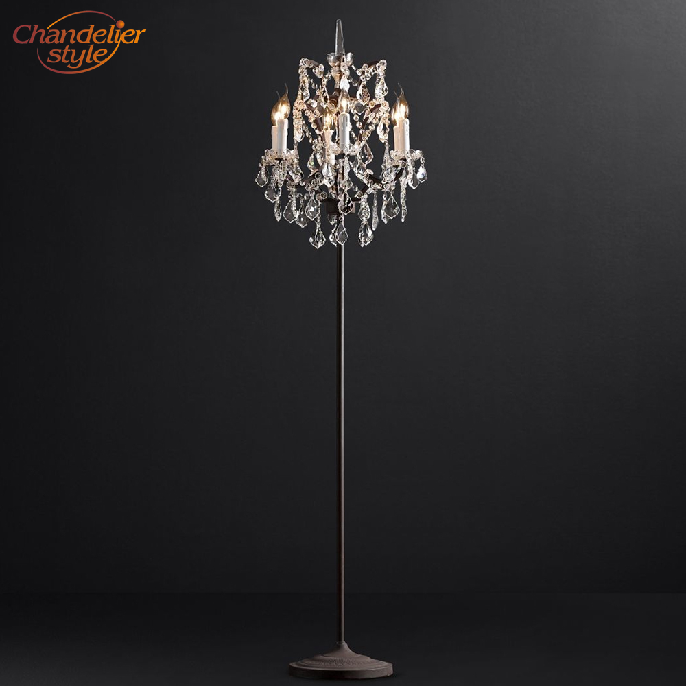 Us 338 68 50 Off Modern Luxury Crystal Floor Lamp Retro Nordic Cristal Light Rustic Lighting For Home Hotel Bed Room Decoration In
