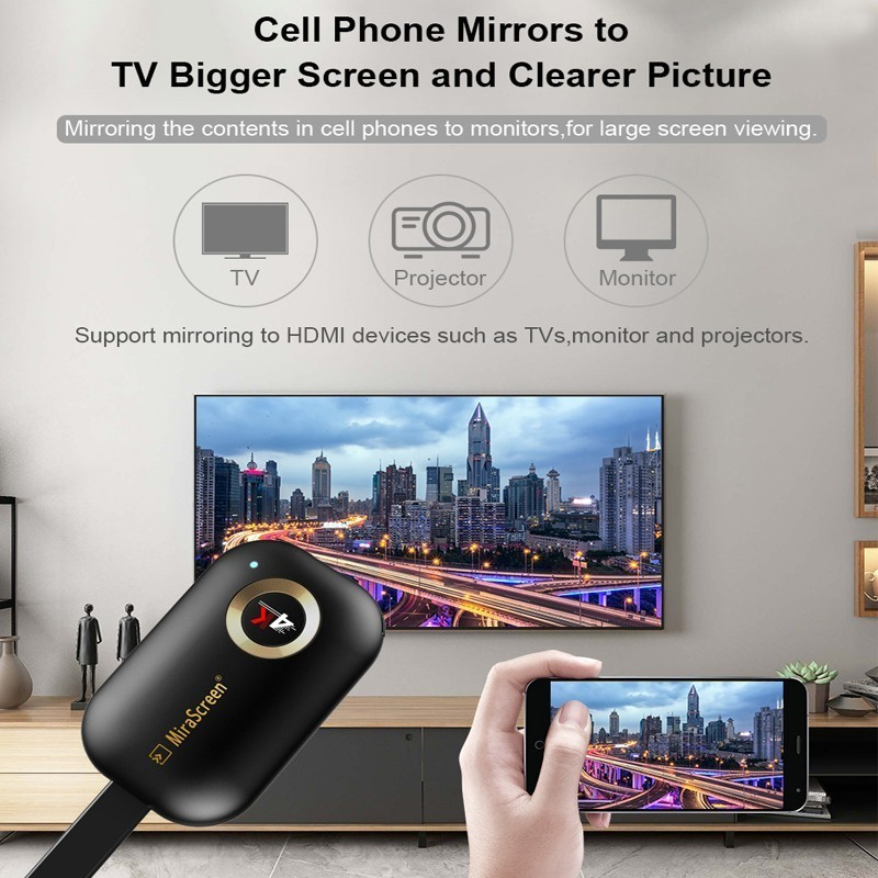 Dongle Receiver Mirror-Screen Streamer-Cast Airplay Wifi Android 5G Wireless Hdmi New