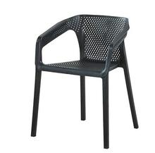 Modern dining chair plastic backrest chair armrest outdoor leisure coffee office reception negotiation chair vine chair. цена 2017